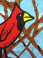 Deep Space Sparkle – Cardinal Winter Art Project