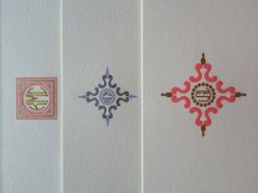 Engraved two color monograms - Thanks for your creativity, Anne Grace! http://www.annegracepapers.com/