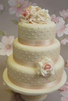 photos of three tier wedding cakes | Round 3 tier ivory wedding cake with white roses.JPG                                                                                                                                                                                 More