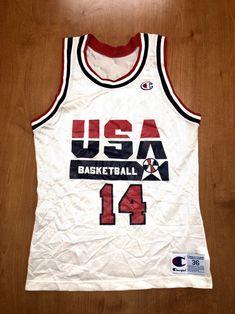 43d1e5fc8 Vintage 1992 Charles Barkley Dream Team Champion Jersey Size 36 usa scottie  pippen magic johnson michael jordan 76ers suns rockets sixers