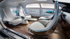Cars of the future will have massage rollers, swivelling seats and let 'drivers' lie back and relax: Designs reveal how self-driving vehicles could look by 2035 [Self-Driving Cars: http://futuristicnews.com/tag/self-driving/]