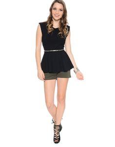 Hot Legs High Waist Dress Shorts  Olive #ModDeals #HelloGorgeous