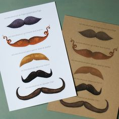 Free printable Mustaches
