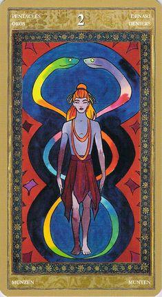 Yoga Tarot: Two of Pentacles