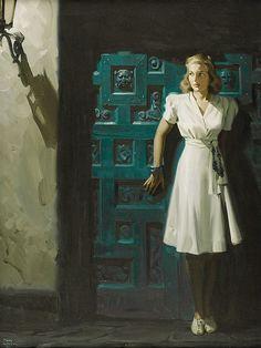 Film-noirish looking Tom Lovell illustration - love the dress!