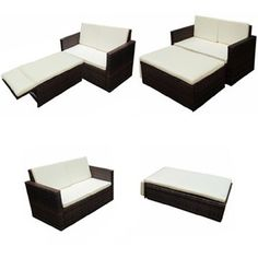 large rattan sofa set outdoor patio furniture garden round table