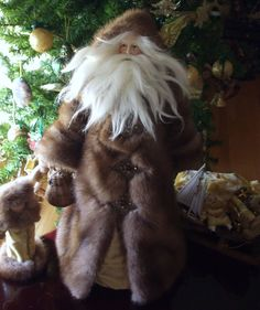 Angie's Unique Creations -  SANTA WEARING A MINK FUR COAT