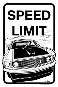 Sally Speed Limit - Metal Print: by Ryan Curtis