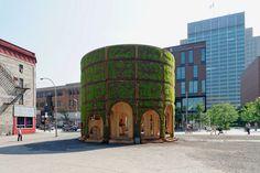 raumlabor plants living fountain house pavilion in montreal - designboom | architecture