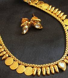 Black friday deals and offers mirraw Buy Lovely antique lakshmi coin necklace with earrings necklace-set online Imitation Jewelry, Shopping Day, Wedding Jewelry Sets, Black Friday Deals, Coin Necklace, Brooch, Jewels, Antiques