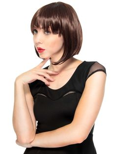 Short Fringe Bangs Bob-Cut Full Wig