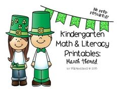 k math and literacy printables- march