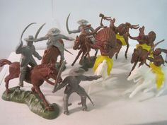 MARX IDEAL CIVIL WAR FORT CHEYENNE PLAYSET CAVALRY INDIAN PLASTIC TOY SOLDIER #IDEALTOYS