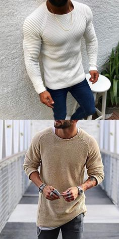 Mens Fashion Suits, Mens Suits, Fashion Outfits, Sweater Fashion, Men Sweater, Knitted Coat, Gentleman Style, Mens Clothing Styles, Cool Style