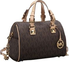 21910e9923 MICHAEL Michael Kors Grayson Chain Medium Satchel Brown - via eBags.com!  Latest Handbags
