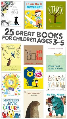 25 great books for kids ages I already see ones we love, so they must be worth checking out. Preschool Books, Book Activities, Toddler Activities, Sequencing Activities, Books For Preschoolers, Toddler Learning, Kids Reading, Teaching Reading, Reading Lists