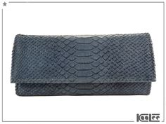 Portemonnaies - GRACE luxuriöses Lederportemonnaie Blaugrau - ein Designerstück von KaaLee bei DaWanda
