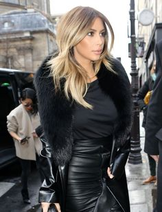 I have no respect for Kim Kardashian but this is a super chic look.