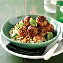 chicken meatballs with pearl couscous  dang meatballs is always on the menu at my SuperBowl party!! How about you? What's your #FortCollins go-to party food? We want to know because we love food! Team #GreenBuffalo