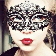 Sexy Black Metal Masquerade Mask Mysterious Ball Mask 50 Shades of grey Halloween Mask by magicalmakingstudio on Etsy