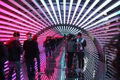 Using bespoke software and LED light projection, UVA have created an immersive experience that will serve as both a platform for performance and as a standalone light and sound sculpture.
