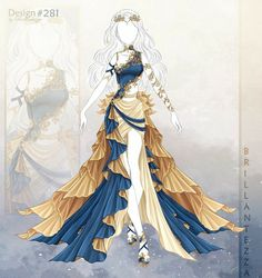 Dress Design Drawing, Dress Drawing, Clothes Design Drawing, Clothing Sketches, Dress Sketches, Fashion Design Drawings, Fashion Sketches, Drawing Anime Clothes, Fantasy Gowns