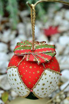 Vianoce - Vianočná guľa - patchwork - 4709751_