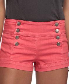 Coral high waist shorts