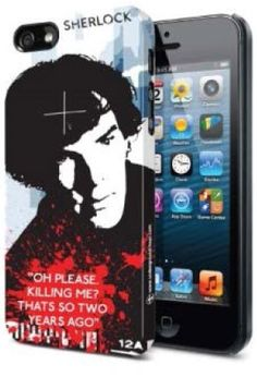 """Sherlock iPhone 5 Case at BBC Shop """"Oh Please. Killing Me? That's SO two years ago""""  Let everyone know that you believe in Sherlock with this officially licensed snap on iPhone 5 case."""