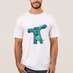 Monster Inc. Sulley scary Disney T-Shirt - click/tap to personalize and buy Monsters Inc, Closet Staples, Scary, Fitness Models, Gray Color, Unisex, Disney, Casual, Sleeves