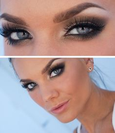 For blue/green eyes