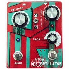 Paradox Defibrillator Fuzz Guitar Effects Pedal Can't wait to melt your friend's faces while you shred? Tired of living under the subordination of classic distortions like the big muff or the tube screamer? Defibrillator is a Fuzz you need to hear, with light emmiting diodes (LED) to distort your instrument with the unusual Antiresonant Tonestack that makes your guitar travel through a world of textures with radical changes, this makes the Defibrillator a fuzz with many Fuzzes within.   ...