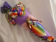 Schultüten - Schultüte Regenbogen - ein Designerstück von Holzwolle-Spielkunst bei DaWanda