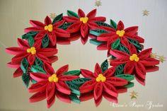 Clara's Paper Garden: Christmas wreath