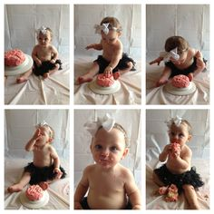Smash cake, first birthday, DIY, baby, cake, pictures