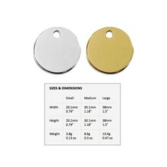 These classic Circle Shape ID Tags by Red Dingo, come in Stainless Steel or Brass and your choice of three sizes; Small, Medium, or Large.…