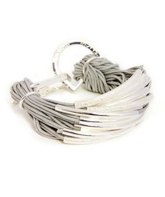 Another great find on #zulily! Gray & Silver String Bracelet #zulilyfinds