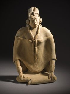 Whistle in the Form of Female Figure  Mexico, Yucatan Peninsula, Campeche, Jaina Island, Maya, 600-900  Tools and Equipment; musical instruments  Ceramic with post-fire applied paint  8 3/4 x 4 3/4 in. (22.23 x 12.07 cm)  LACMA
