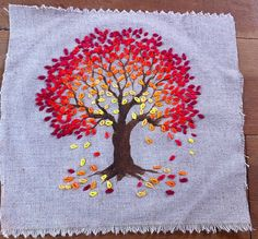 tree embroidery for a regretsy charity fundraiser