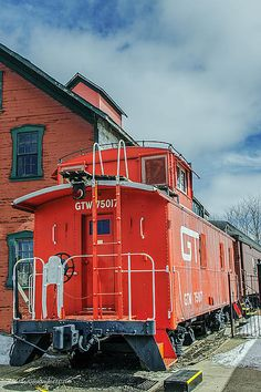 Grand Trunk Western Depot by LeeAnn McLaneGoetz McLaneGoetzStudioLLCcom The Grand Trunk Western depot Imlay City Michigan. Train Car, Train Tracks, Imlay City, Railroad Pictures, Old Trains, Train Pictures, Model Train Layouts, Model Trains, Locomotive