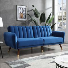This pantone blue velvet sofa is the perfect trendy addition to any modern interior design project. Discover a limited edition of 9 furniture pieces designed with Pantone Blue and get a FREE E-BOOK on how to use the pantone color for home decor. Azul Pantone, Pantone 2020, Pantone Color, Pantone Blue, Easy Home Decor, Cheap Home Decor, Home Interior, Interior Design, Sofa Design