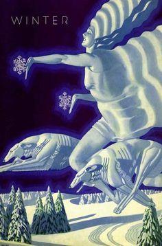 Winter.   Dolores Delargo Towers - Museum of Camp: Art Deco.