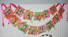 Your place to buy and sell all things handmade Cute Banners, Happy Birthday Banners, Garland, Card Stock, Appreciation, Lettering, Party, Check, Fun