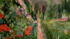 "Impressionism by Impressionist FineArtist TuckerDemps.   ""Gardens "" Series,  original oils on canvas,  16x20."