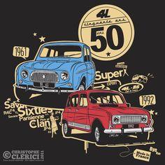 Les illustrations de christophe: T-shirt pour les 50 ans de la 4l