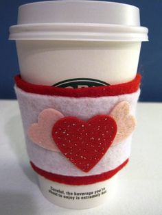How to Make Felt Coffee Cup Sleeves | | Blissfully DomesticBlissfully Domestic