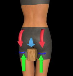 Tuck the tailbone - lift hamstrings up to glutes - internally rotate upper thighs - pull knee caps up to engage quads