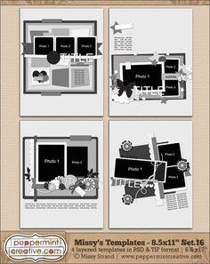 Missy's Templates Set.16 (8.5x11)