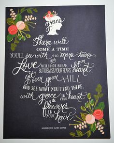 About Love and GraceMumford  Sons Quote 11 x 14 by firstsnowfall, $46.00