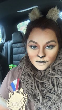 Cowardly lion makeup More